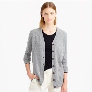 J. Crew V-Neck Wool and Cashmere Cardigan